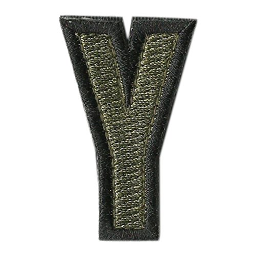 Tactical Letter Patches - Olive - Y - Letter Velcro