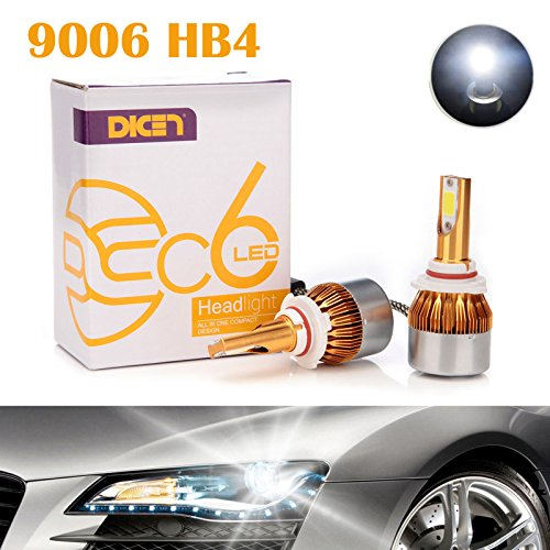 9006 HB4 LED Headlight Bulbs 12000LM 120W 6000K Cool White Conversion Kit - Low Beam/High Beam/Fog Light - Plug & Play All-in-One 2 Yr Warranty (Pair) (Bulb 6000k 9006 Led)