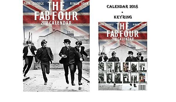 Beatles calendario 2018 + Beatles llavero: Amazon.es ...