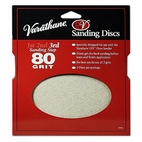Varathane Sanding Disc (Set of 3-total of 9 disc) Step 3 Finest - Discs Sanding Ezv