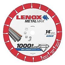 "Lenox Tools 1972929 METALMAX Diamond Edge Cutoff Wheel, 14"" x 1"""