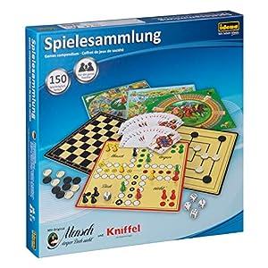 Idena 6102589 - Spielesammlung mit 150 Spielmöglichkeiten, inklusive original Mensch ärgere Dich nicht und Kniffel, für…
