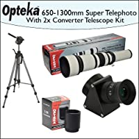 Opteka 650-2600mm HD Telephoto Zoom Lens with Telescope Converter Kit and 70 Tripod