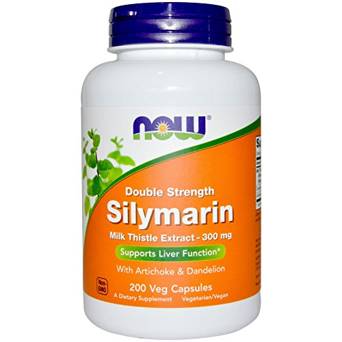 Now Foods Silymarin/Milk Thistle Extract 2X - 300Mg, 200 Vcaps (Pack of 2)