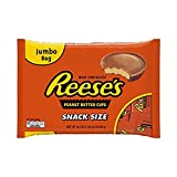 REESE'S Peanut Butter Cups, Chocolate Candy, Snack Size, 19.5 Ounce