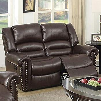 Amazon.com: Benzara BM171451 Loveseat - Polipiel reclinable ...