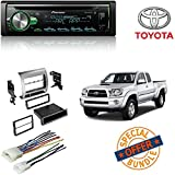 pioneer app head unit - PIONEER 1DIN DEH-S5000BT CAR MP3 CD STEREO W/ USB AUX-IN BLUETOOTH & PANDORA+ Toyota Tacoma Double Din Car Stereo Radio Installation Dash Mount Kit Harrness