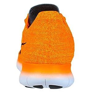 Nike Women's Free Running Motion Flyknit Shoes, Laser Orange/Gamma Blue/Cool Grey/Black - 7 B(M) US