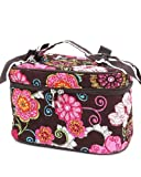 Belvah Quilted Floral (L) Cosmetic Case (Brown), Bags Central