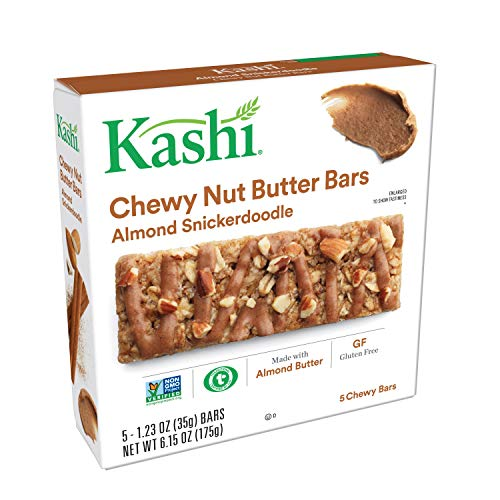 Kashi, Chewy Nut Butter Bars, Almond Snickerdoodle, Vegan, Gluten Free, Non-GMO Project Verified, 6.15 oz (5 Count) (Kashi Butter Peanut)