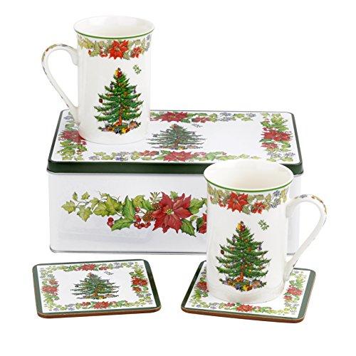 Spode China Christmas Tree (Spode Christmas Tree Poinsettia 5 Piece Set)
