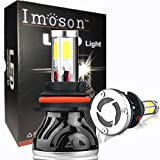 IMOSON H8,H9,H11 Led Headlight Bulbs,For Cars Super Bright H8,H9,H11 Led Bulb,Conversion Kit,Headlamps 9004 High beam 40w/low beam 20w-80W 8,000lm 6000k cool white CSP LED chip