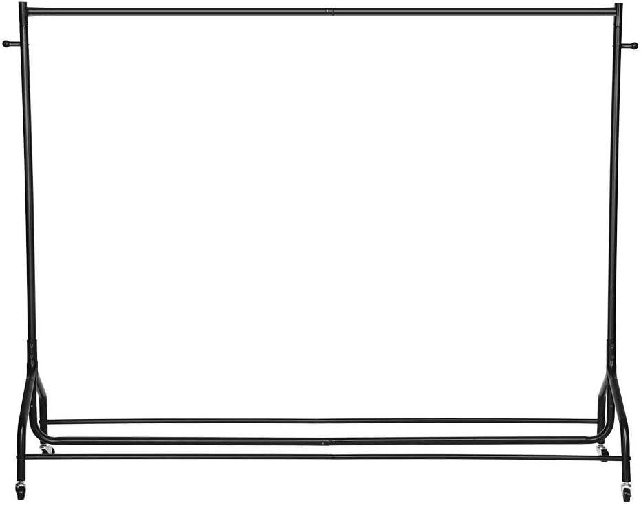 Porte-v/êtement /à Roulettes 1 Tringle Portemanteau Espace de Rangement /à Chaussures Penderie /à V/êtement Porte-v/êtements avec /Étag/ère Robuste Portant /à Roulettes V/êtement pour Buanderie Chambr