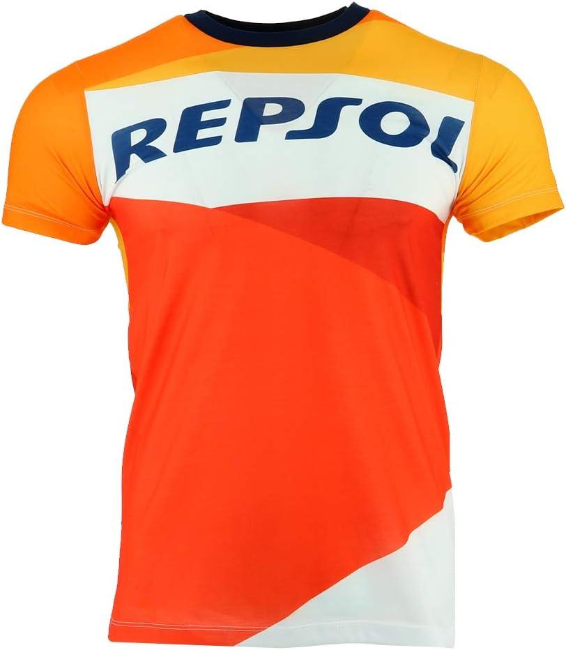 Pedrosa Large Logo T-Shirt Officiel 2018 G/én/érique Honda Repsol Moto GP Team Marquez