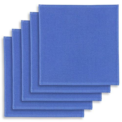 5er-Set Geschirrtuch, Spültuch, Multifunktion Baumwolle blau, KRACHT, Edition ziczac-affaires, ca.30x30cm