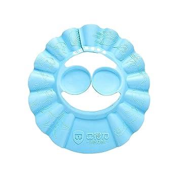 cec223e8e8bf5 Healifty Visera Gorro de Ducha para Bebe Champú Ajustable Gorro de Ducha  para Bebé Sombrero Champú Evite que el Agua a Ojos y Cara (azul)   Amazon.es  Salud ...