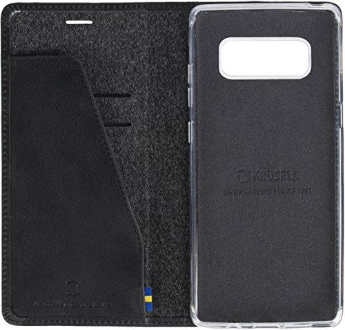 Krusell Sunne 4 Card FolioWallet Folio Negro - Fundas para teléfonos móviles (Folio, Samsung, Galaxy S9, Negro)