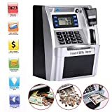 GoodsFederation Electronic ATM Savings Bank Digital Piggy Money Bank Machine,Electronic Cash Box with Debit Card,Password Login,Voice Prompt,Coin Recognition,Targets Setting