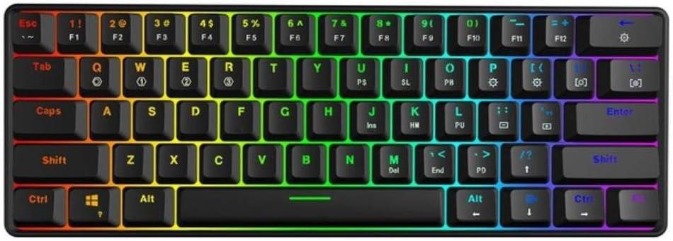 Kit Personalizado de Teclado RGB 60% Intercambiable, Placa de ...