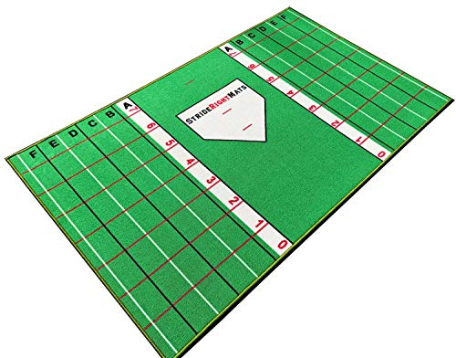 Baseball/Softball Youth Hitting Mat | Kids Stance and Swing Trainer, Beginners Age 12 and Under | Stride Right Mats