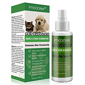 LDREAMAM Pet Odor Eliminator Spray,Pet Odor Remover,Urine Remover Spray,Pet Odor & Stain Remover for Dogs and Cat Urine - Removes New and Old Pet Stains - Spot Carpet Cleaner