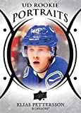 2018-19 Upper Deck Portraits Hockey #P-99 Elias Pettersson Vancouver Canucks Official NHL Trading Card from UD