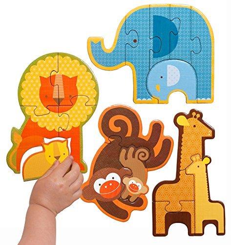 Petit Collage Beginner Jigsaw Floor Puzzle, Safari Babies by