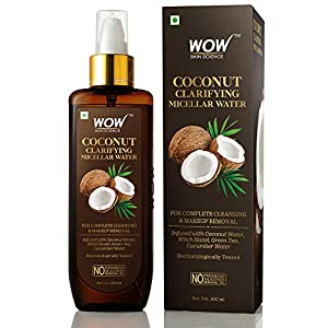 WOW Skin Science Coconut Clarifying Micellar Water for Complete Cleansing & Makeup Removal – For All Skin Types – No…