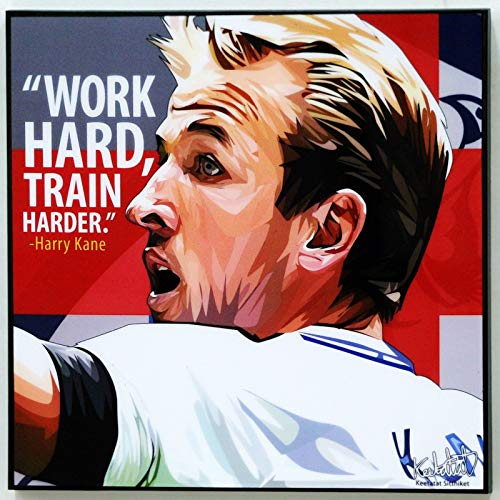 (Harry Kane Tottenham Hotspur Poster Quotes Wall Decals Photo Painting Framed pop Art Football Soccer)