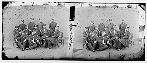 1862 Photo James River  Virginia  Group Of Officers On Deck Of The Monitor