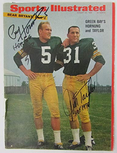 PACKERS JIM TAYLOR, PAUL HORNUNG +2 Packers Signed Sports Illustrated SI JSA ()
