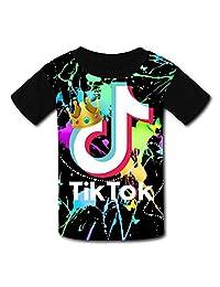 GDANHA Youth TikTok 3D Printed T-Shirts O-Neck Short Sleeve Kids Tees
