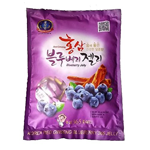 [Korea Ginseng Distribution Corporation] Korean Red Ginseng Blueberry Jelly 700g / Red Ginseng Concentrate / Red Ginseng Dessert / Health Food / Gift / Snacks / Hard Candy / Parents / Grand Parents (700g Bottle)