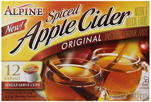 Alpine Spiced Apple Cider Original Instant Drink Mix, 12-Count .81-Ounce Cups(Total of