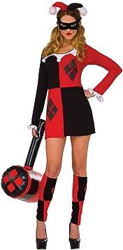 Horror-Shop Harley Quinn Mini-Vestido de Traje M/L: Amazon.es ...