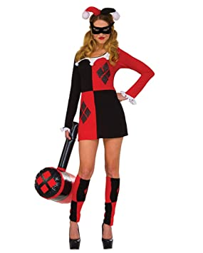Horror-Shop Harley Quinn Mini-Vestido de Traje S/M: Amazon ...