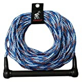 Kwik Tek 1-Section Water Ski Rope with 4-Inch Finger Guards, 75-Feet