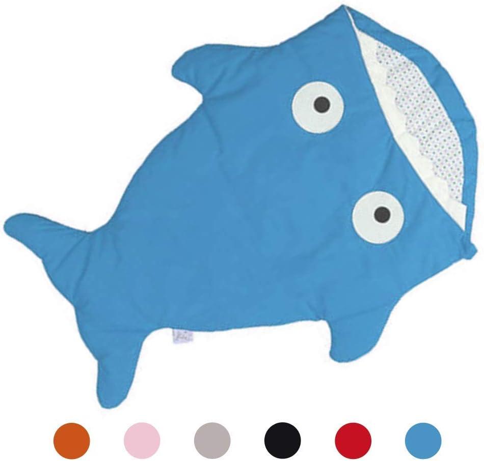 Lifiiboost Sac de Couchage B/éb/é pour Poussette Coton Hiver Chaude Requin Gigoteuses Epaisse Mignon Anti-Coup Chanceli/ère Couverture /à Emmailloter pour B/éb/é 0-36 Mois Cadeau Noel