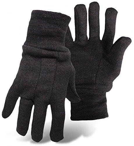 Boss Gloves 4020-12 Jersey Glove, Regular Weight, Large, Bro