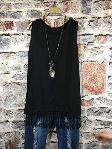 T Teschi Canotte Nero Costume maniche da shirt Nappa Paillettes Luckycat Design 6 pizzo Canotta Canotte Corsetto Gotico in donna Canotta senza x0ZWqBH