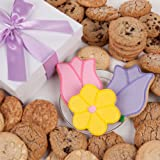 Tulips and Daisy Signature Cookie Gift Box- 12 Pc.