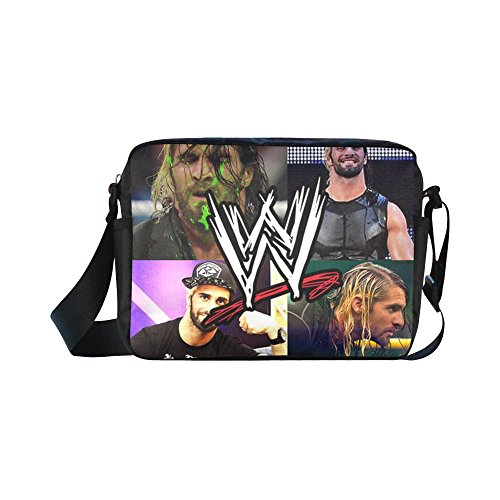 [Navarro WWE Summer Slam 2016 Seth Rollins Unisex Nylon Waterproof Material Black Cross-body Nylon Bags Shoulder] (Randy Orton Costume)