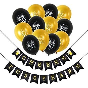 Amazon.com: Konsait 50th Birthday Party Decorations Kit ...