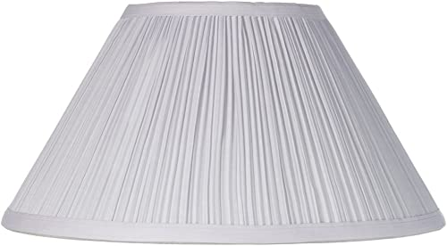 White Mushroom Pleated Lamp Shade 6x14x8 Spider – Brentwood