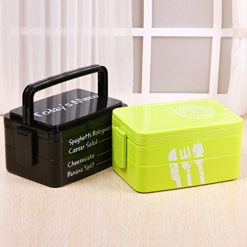 b y all in one stackable lunch bento box green buy online in uae kitchen products in the. Black Bedroom Furniture Sets. Home Design Ideas