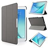 iHarbort Samsung Galaxy Tab S2 9.7 Case Cover (SM-T810 T813 T815 T819) - Ultra Slim Lightweight Smart-case Holder Stand Leather Case, With Smart Auto Wake / Sleep function, Grey