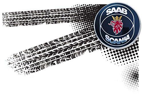 SAAB Scania - Auto Logo car Fun Top Tank Shirt -2032 -Grau