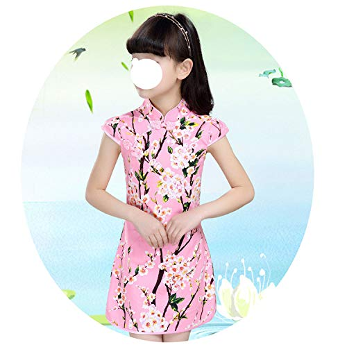 Baby Girls Dresses Chinese Traditional Style Cheongsam Costume Children Clothing,Style Nineteen,6]()