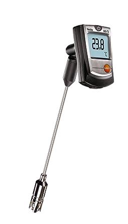 Testo 905-T2 Termómetro De Superficie Con La Sonda De Banda Cruzada, El Tiempo