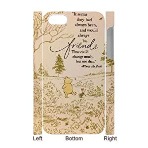 Hjqi - DIY Winnie the Pooh 3D Cell Phone Case, Winnie the Pooh Custom Case for iPhone 4,4G,4S